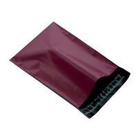 """500 Burgundy 6.5""""x9"""" Mailing Postage Postal Mail Bags"""