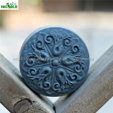 Round Flower Silicone Soap Mold Baking Cake DIY Making Chocolate Candy Mould