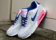 WOMENS NIKE AIR MAX 90 (GS) DIGITAL PINK HYPER BLUE TRAINERS UK 5 EU 38