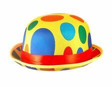 De L'adulte Déguisement Clown Pointillé Chapeau Melon Circus Accessoire