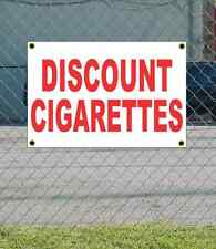 2x3 DISCOUNT CIGARETTES Red & White Banner Sign NEW Discount Size & Price