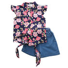 Cute Toddler Kids Baby Girls Outfit Clothes T-shirt Tops+ Short Pants Shorts Set