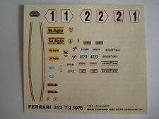F1 DECALS KIT FERRARI 312 T2 GP SPAGNA 76 LAUDA N.1-2 DECALS FDS AUTOMODELLI