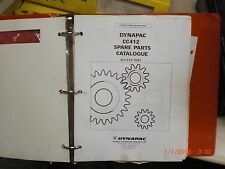 Dynapac roller cc412 spare parts catalogue, maintenance & operation manual