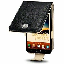 Samsung Galaxy Note N7000 Genuine Leather Flip Case Cover - Black