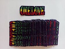 "50 RASTA ONE LOVE Embroidered Patches 1.5"" x 4"""