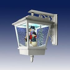 White Festive Snowing Wall Mounted Lantern with LED Lights - Snowmen (IDI9548)