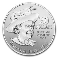 2012 1/4 oz Silver Canadian $20 Queen's Diamond Jubilee Coin - SKU #69575