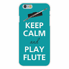Keep Calm & Play Flute Instrument FITS iPhone 6+ Plastic Snap On Case Cover New