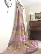 8.5FT DROP INTERLINED BESPOKE DESIGNERS GUILD FRENCH CHIC MTM SILK PINK CURTAINS
