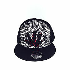 Weed Smoking Mesh Leaf Life Hip-Hop Adjustable Unisex Baseball Hat Snapback Cap