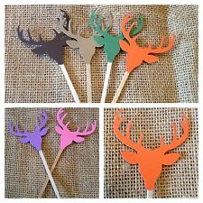 Deer Head Antlers Cupcake toppers Picks For Your Hunting Themed Party Or Shower