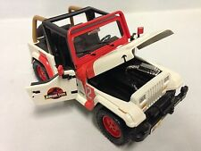 Jurassic World 2015 Movie Jeep Wrangler, 1:24 Scale Diecast Jada Toys White