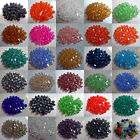 100pcs Faceted Bicone Flicker Glass Crystal Spacer 4mm Beads 14 Colors Optional