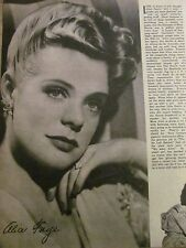Alice Faye, Mickey Rooney, Double Full Page Vintage Pinup