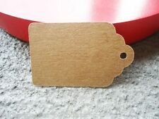 10 Small Kraft Brown Favour Gift Swing Tags Wedding Party Bomboniere Craft Shop