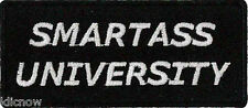 "SMARTASS UNIVERSITY PATCH 8CM x 3.5CM (3 1/4"" X 1 1/2"")"