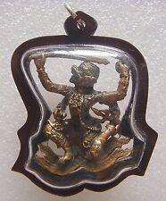 Hanuman 4 Hand LP Kalong Wat Khaolaem Old Thai Buddha Amulet