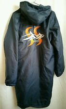 Long Swimmer Coat Jacket Hooded Navy Blue SHARK Adult Unisex XXS by Swim Stuff