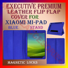 ACM-EXECUTIVE LEATHER FLIP CASE for XIAOMI MI-PAD TABLET MIPAD TAB COVER - BLUE