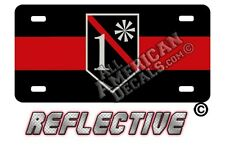 Thin Red Line 1* Decals and Auto Tag REFLECTIVE License Plate + 2 (WITH LINE)