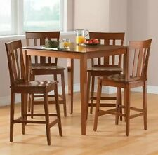 5 Piece Counter Height Dining Set Table Chair Seat Kitchen Home Furniture Cherry