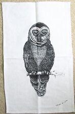 Owl Tea Towel - Linen/Cotton Blend Owl Tea Towel *Aust Design Natural Colour