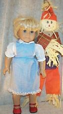 "Doll Clothes fit American Girl 18"" inch Costume 2 Pcs Blouse Pinafore Scarecrow"