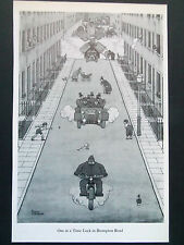 "HEATH ROBINSON CARTOON-""ONE AT A TIME LOCK IN BROMPTON ""-VINTAGE 1975 28x19cm"