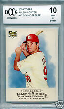 DAVID FREESE Pirates 2009 Topps Allen Ginter rookie BGS BCCG 10 MINT !!