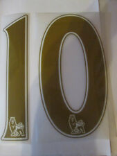 no 10 Premier League EPL Football Shirt Name Set Rear Number Gold Sporting ID