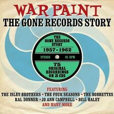 WAR PAINT - THE GONE RECORDS STORY 1957-1962 - 75 ORIGINAL RECORDINGS - NEW 3CD