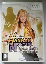 HANNAH MONTANA SPOTLIGHT WORLD TOUR Wii GAME brand new & sealed UK NINTENDO!