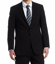 Kenneth Cole New York Men's Suit Button Slim Fit Jacket Blazer Solid Black 42R