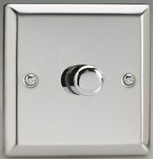 Varilight LED Dimmer Switch JCP401 V-Pro Polished Mirror Chrome 1 Gang 2 Way