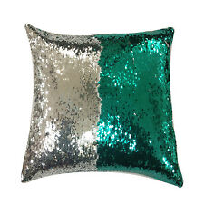 Mermaid Sequin Glitter Cushion Cover Reversible Red Silver Black Gold Green Pink
