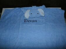 "Pottery Barn Kids Nursery Critter Wraps Baby Hooded Towel, Elephant ""Devan"" New"