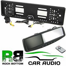 "TOYOTA 4.3"" Rear View Reversing Mirror Monitor & Car Number Plate Camera Kit"