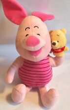 PIGLET WITH WINNIE THE POOH marionnette à main-soft plush toy
