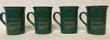 Set 4 O'Darby Irish Cream Mug Coloroll Kilncraft Green Porcelain Made in England