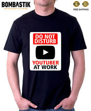 R 0396 YOUTUBER AT WORK T-shirt Tee Funny Internet Online Fans Youtube Videos