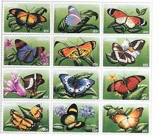 Liberia - Butterflies, 1996 - Sc 1207 Sheetlet of 12 MNH