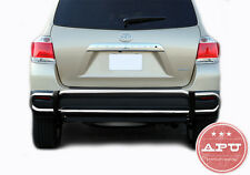 FITS 2008-2013 Toyota Highlander Rear Bumper Guard Protector Stainless Steel