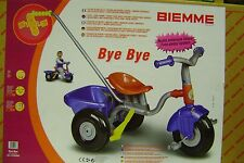 BIEMME TRICICLO METALLO BYE BYE TELAIO in METALLO  made ITALY