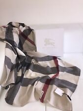 NWT Burberry Infant Baby Boy Girl Nova Check Wool Receiving Blanket  Gorgeous!