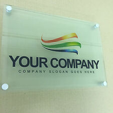 FULL COLOUR PRINTED A4 BUSINESS SIGN - HOUSE PLAQUE – GLASS LOOK ACRYLIC BOARD