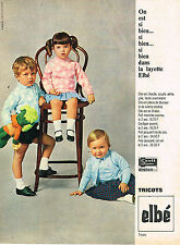 PUBLICITE ADVERTISING 045  1965  ELBE  tricots layette bébé