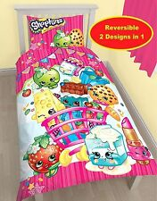 SHOPKINS SHOPAHOLIC SINGLE DUVET QUILT COVER BEDDING SET GIRLS BOYS KIDS NEW
