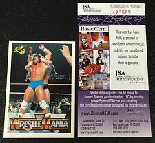 ULTIMATE WARRIOR 1990 CLASSIC WWF WRESTLING SIGNED AUTOGRAPH CARD JSA CERTIFIED
