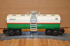 "NEW Lego Train Custom White/Green Octan Car 9"" inches long RC/9V"